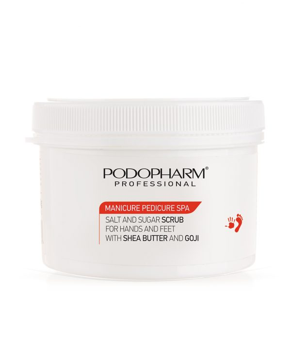 Podopharm Peeling solno-cukrowy do dłoni i stóp z masłem shea i goji 600g