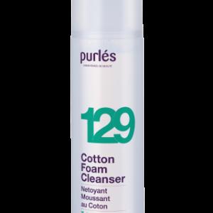 Purles 129 COTTON FOAM CLEANSER Pianka myjąca z wyciągiem z bawełny 125ml